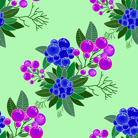 decorative element: Abstract Elegance Seamless pattern with floral background. Vector pattern with flowers and plants. Floral decor. Original floral seamless background.