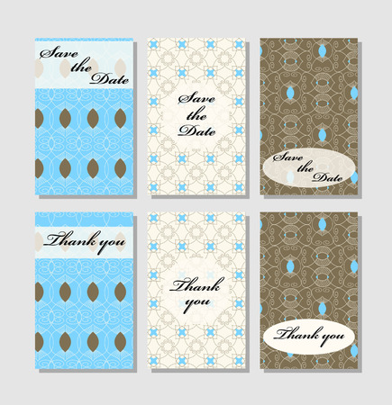 wedding table decor: Vintage vector card templates. Can be used for Save The Date, baby shower, mothers day, valentines day, birthday cards, invitations. Template Vector response card save the date card