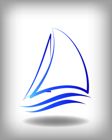yacht race: Yacht vector icon templates. Yachts silhouettes. Vector line yachts icon,  vector illustration. Yachting and regatta symbols Illustration