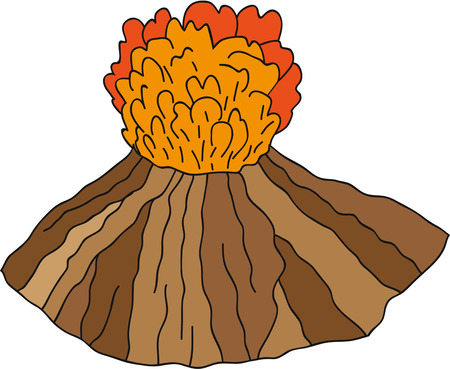 erupting: Volcano vector erupting illustration. Illustration