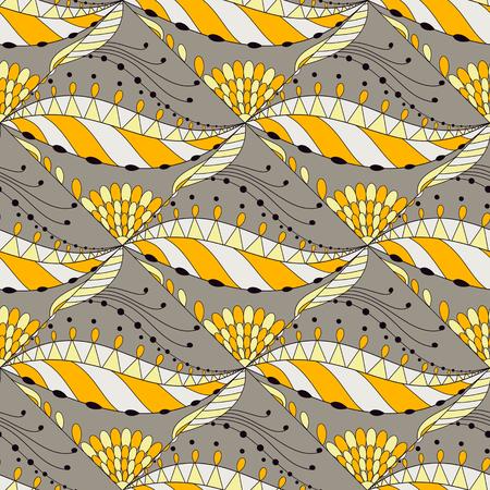 Vector nahtlose Textur mit abstrakten Blumen Muster. Endlose Hintergrund. Ethnische nahtlose Muster. Vector Hintergrund. Verwenden Sie für Tapeten, Muster füllt, Web-Seite Hintergrund