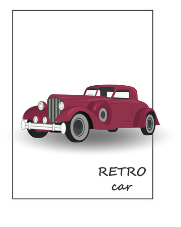 exclusive collection: Retro car, vintage collection, classic garage sign, illustration, can be used for design, invitations card, infographics Illustration