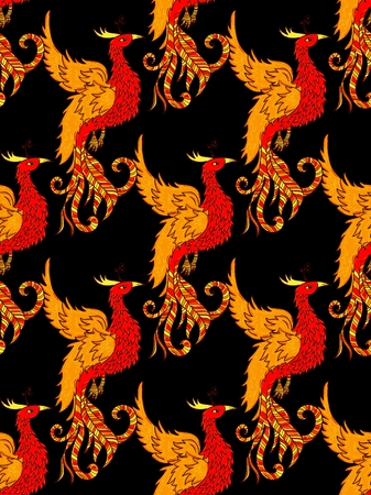 chinese phoenix: Chinese traditional red phoenix. Feng Shui symbolize fire element.