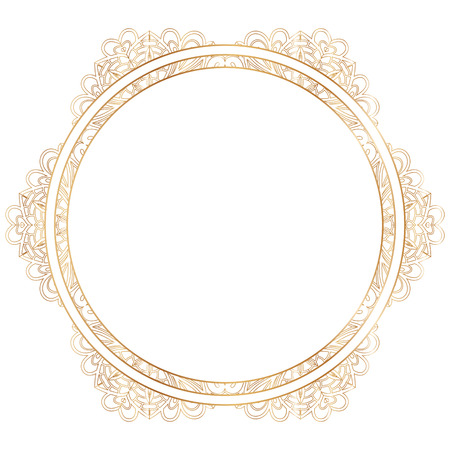 silhouettes: Vector gold floral frame silhouettes. Illustration
