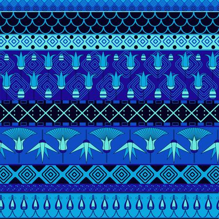 ornamento egipcio patrón transparente tribal antigua. ? Un ser utilizados para el paño, chaquetas, invitación, folletos, bolsas, cuadernos, tarjetas, sobres, pastillas, mantas, muebles, embalaje,