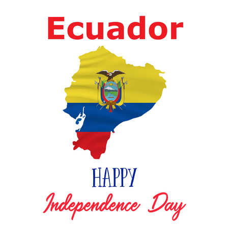 10 august ecuador independence day background in national flag