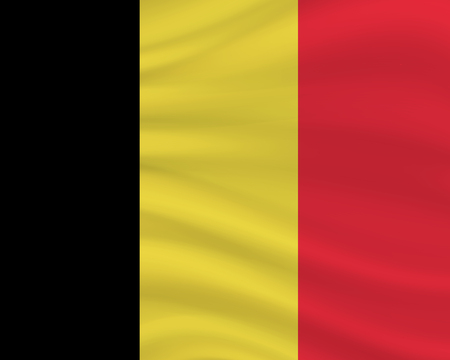 21 July, Belgium Independence Day background in national flag color theme. Belgium National Day. Celebration banner with waving flag. Vector illustration