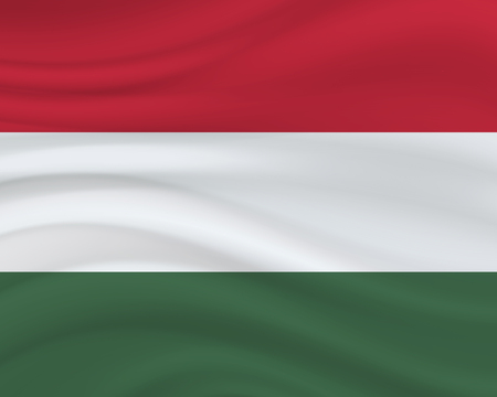 20 August, Hungary Independence Day background in national flag color theme. Hungary National Day. Celebration banner with waving flag. Vector illustration
