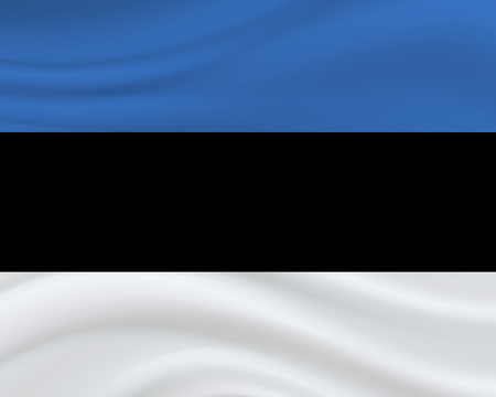 20 August, Estonia Independence Day background in national flag color theme. Estonia National Day. Celebration banner with waving flag. Vector illustration Illusztráció