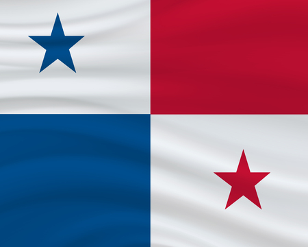 3 November, Panama Independence Day background in national flag color theme. Celebration banner with waving flag. Vector illustration