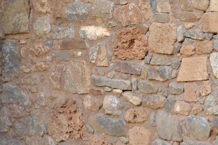 old stone wall, masonry, stonework Stock Photo