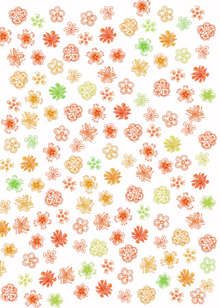 abstract white  background with colorful flowers 스톡 콘텐츠