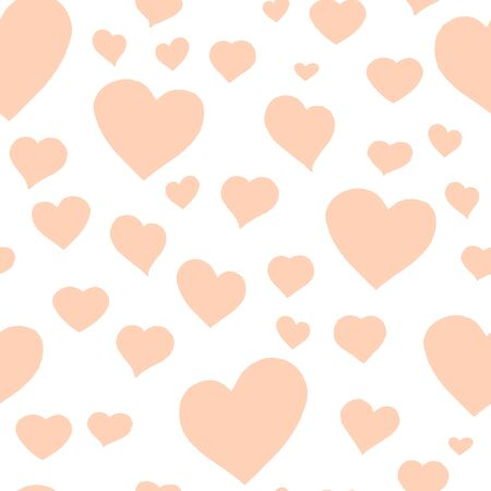 Love themes seamless texture. Seamless pattern with pastel hearts isolated on white. White background.Can be used for pattern fills, surface textures, backgrounds, wallpapers.