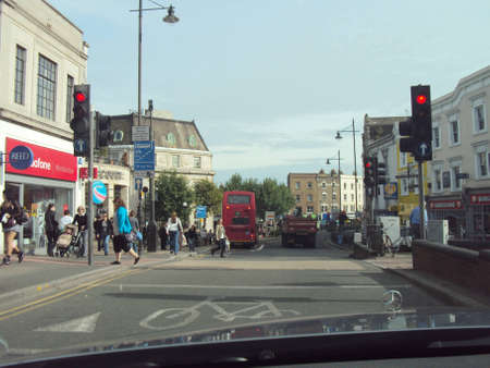 Everyday hustle and bustle on a London street Editorial