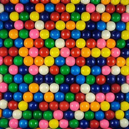 goma de mascar: Varios colores chicle bolas de fondo Foto de archivo