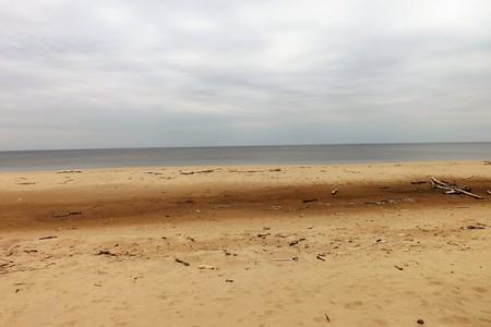 The Baltic Sea coast in Latvia 版權商用圖片