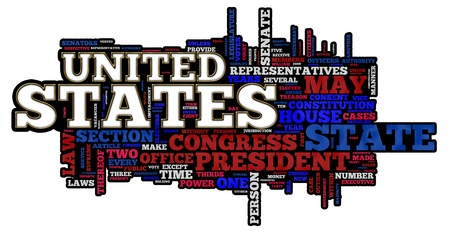 United States of America themed word cloud