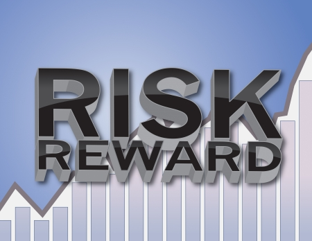 reward: 3D Risk and Reward Financial Concept Illustration Stock Photo