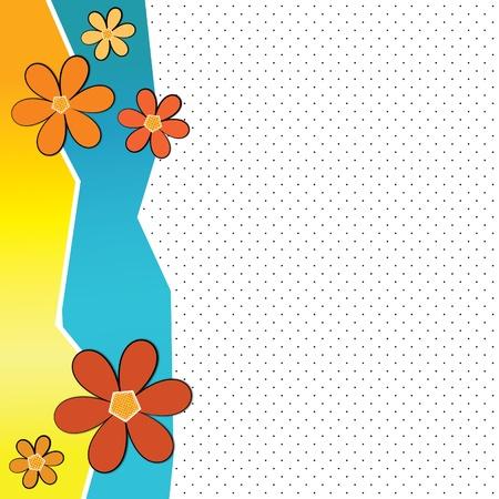 간단한 꽃 배경 여름 공간 복사 공간