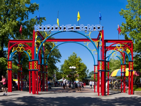 state park: Pittsburgh,  USA, July 5, 2011: Entrance to Kiddieland at Kennywood Park