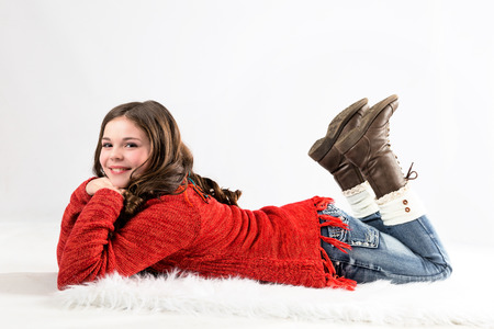 pre: Cute, fun, and stylish caucasian tween girl