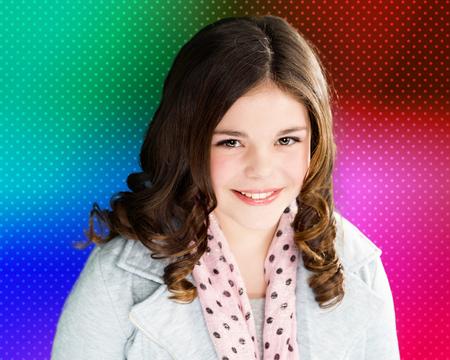 Cute, fun, and stylish caucasian tween girl