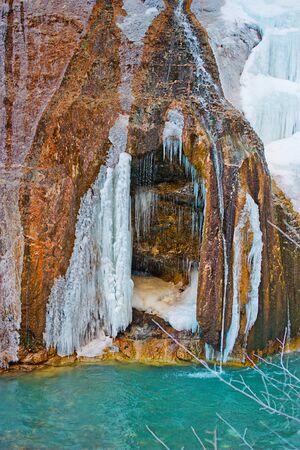 Big waterfall in Upper Chegem, Kabardino-Balkaria, Chegem gorge, Russia
