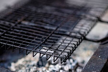 grill with coals