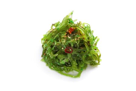 Seaweed Chuka with sesame seeds on isolated white background Zdjęcie Seryjne