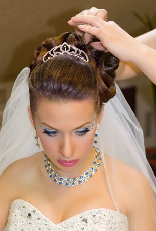 hairdress:  Beautiful hairdress for the european bride