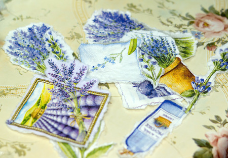 decoupage: Process of manufacture a tray in style a decoupage