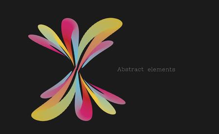 abstract design element in shape of wavy flower Ilustração