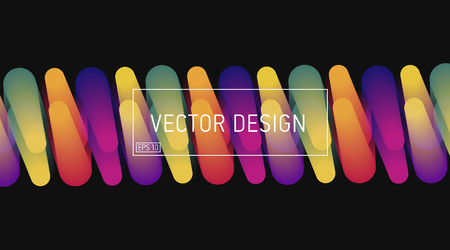 vector design bright abstract graphic of colourful lights Vectores