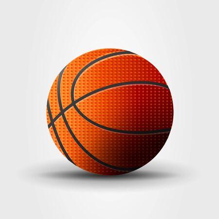 Basketball ball vector illustration, realistic cartoon graphic Illusztráció