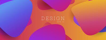 Abstract background with multicolored paper shape, Festive cover design with liquid gradient color elements. Illusztráció