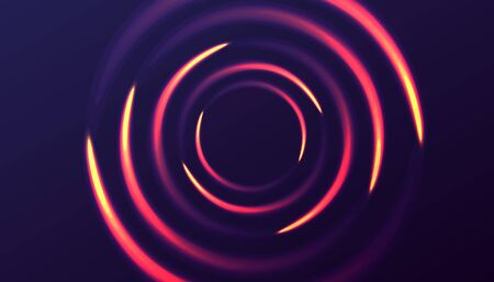 Abstract background with luminous swirling circle of light on the dark backdrop Illusztráció