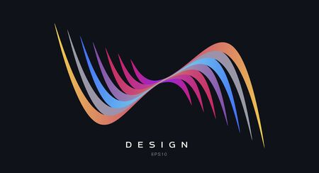 colorful abstract logo, design element, corporate sign concept