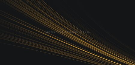 Abstract background with golden lines in 3d space forming striped texture