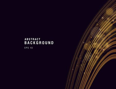 Abstract background with golden stream falloing down, lines with flares composition, cover presentation 일러스트