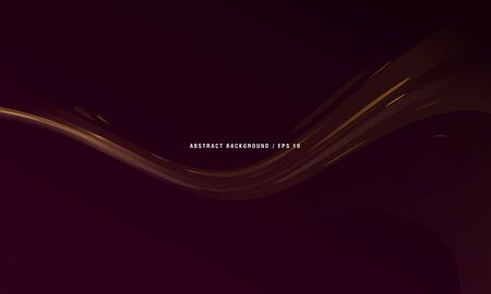 Abstract dark brown background with fluid curve with bubbles, liquid splash effect, hot chocolate
