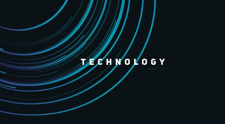 Abstract background with bright blue circles spreading from top right angle, sound or radio waves, technology cover wallpaper