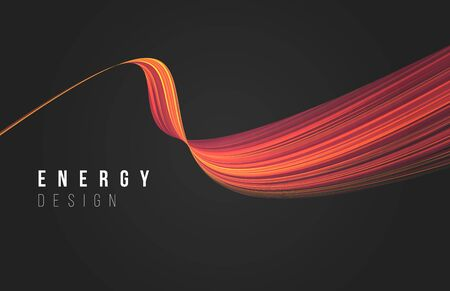 Abstract design element of red warm line texture stripe curve, smooth fluid shape, wallpaper cover, design copy 일러스트