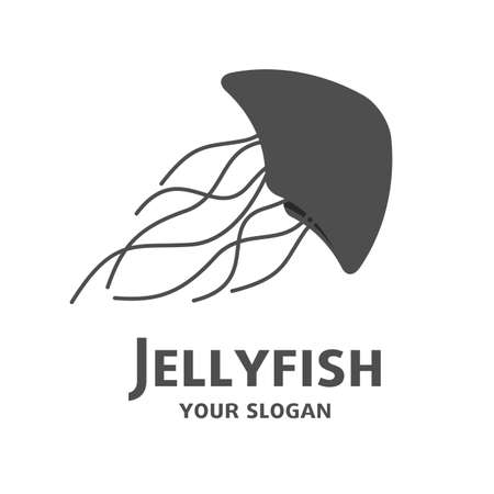 Jellyfish icon, shape silhouette  , company identity, simple design graphic, isolated Illusztráció