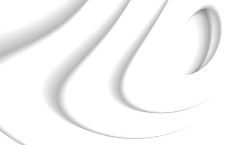 Abstract background of fluid white shapes in white sace, curved 3d surface, graphic design artistic backdrop Illusztráció