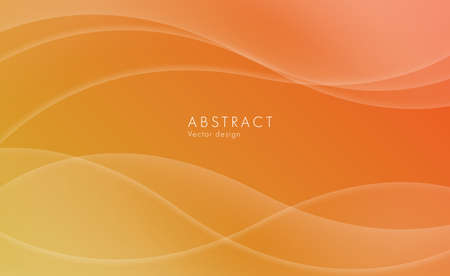 Abstract orange background, random waves forming trensparent shapes