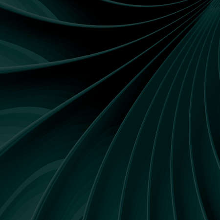 Abstract dark background with 3d waves forming elegant monochrome texture, play of light and shadow composition cover Vectores