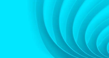 Blue backdrop for presentation, sea stylized wave, paper 3d texture, play of light and shadow
