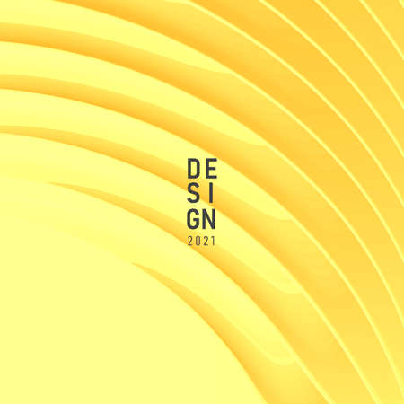 Cover banner background for fashion web promo with yellow 3d texture, trendy card Vectores