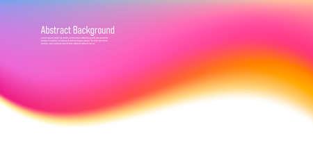 Fluid wave watercolor gradient shap, soft smooth curve graphic element, pink warm colors