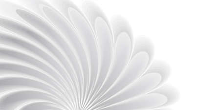 Abstract background with white 3d flower on wind, soft texture, cover wallpaper